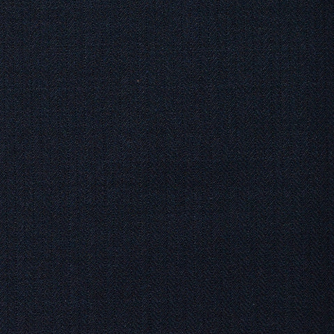 Bright Navy Narrow Herringbone Super 120's All Wool Suiting