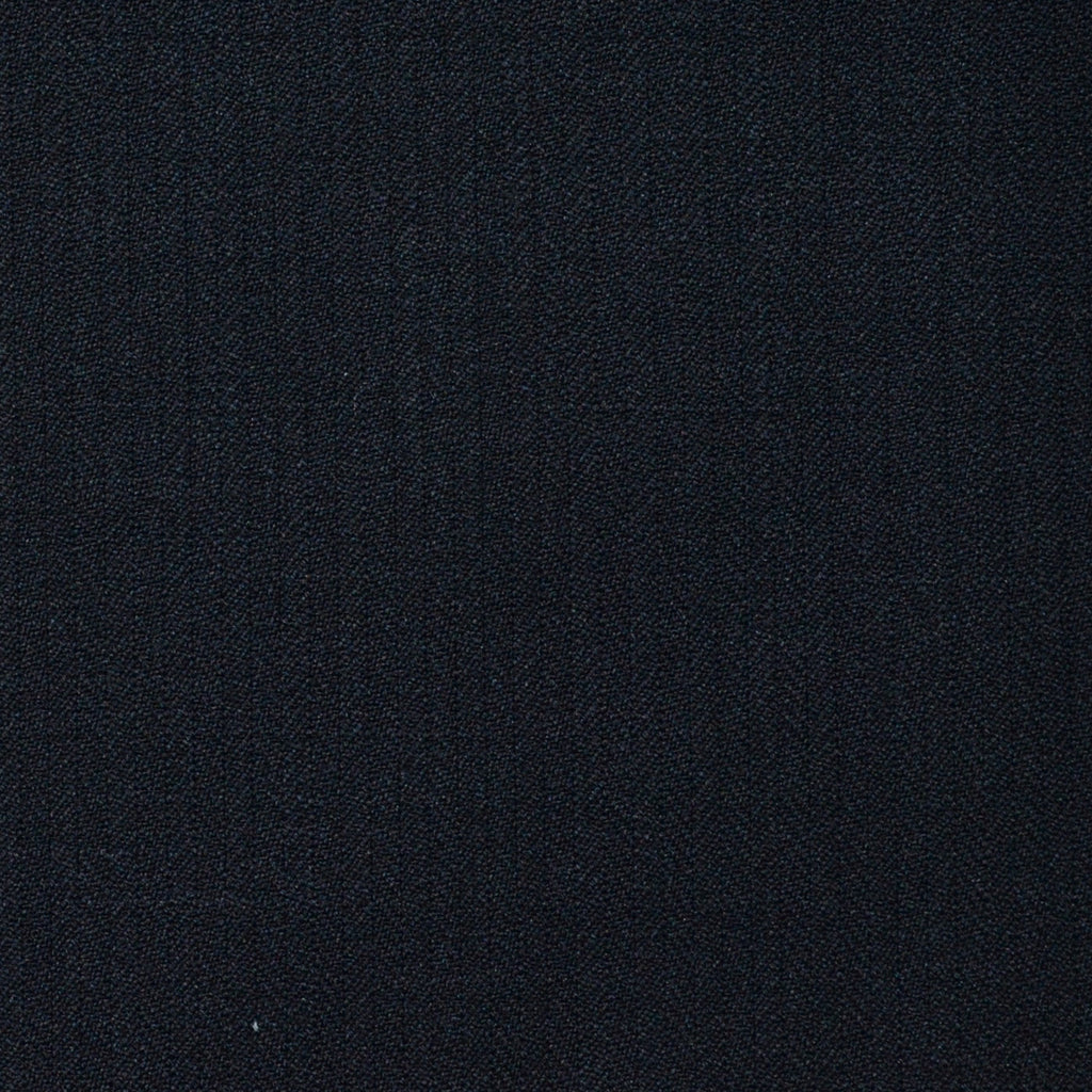 Dark Navy Narrow Herringbone Super 120's All Wool Suiting