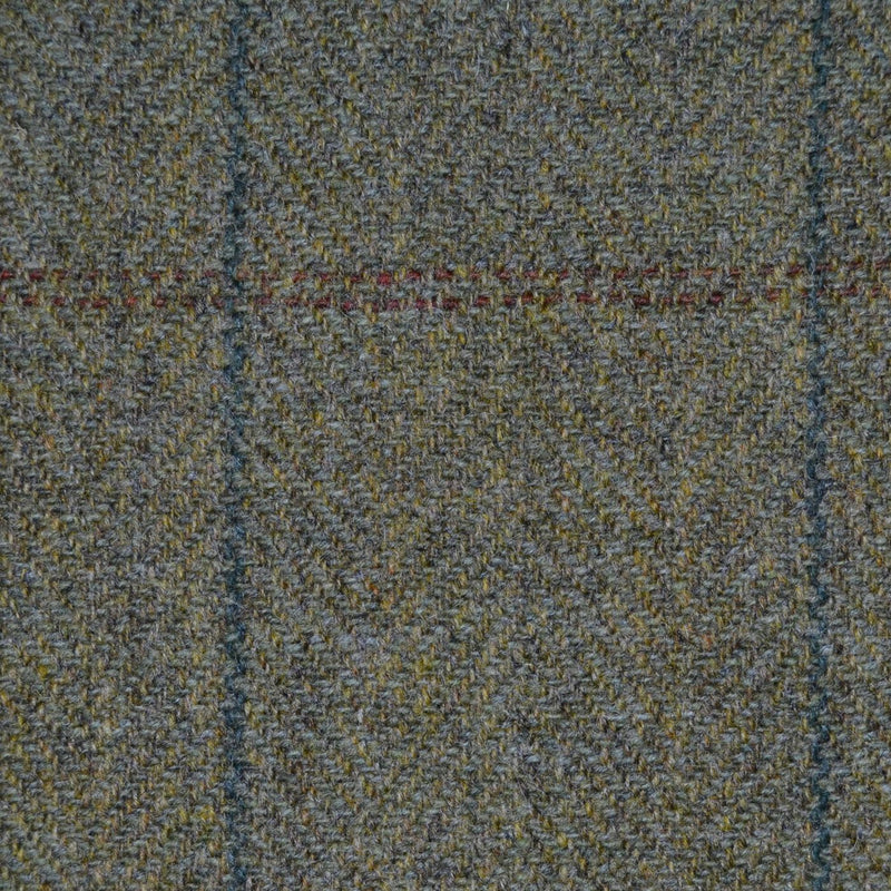 Moss Green with Green & Brown Check Tweed