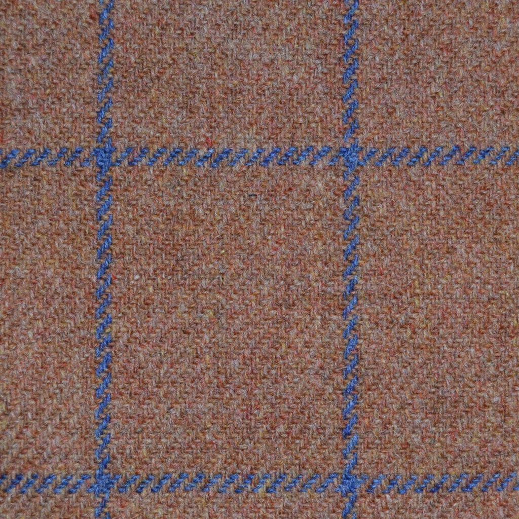 Tan with Blue Check Tweed