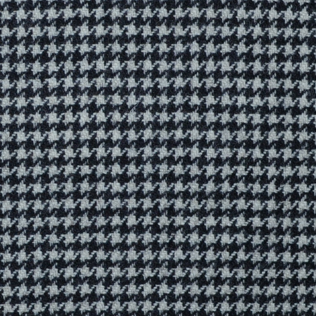 Black and White Dogtooth Check Lambswool & Cashmere Jacketing