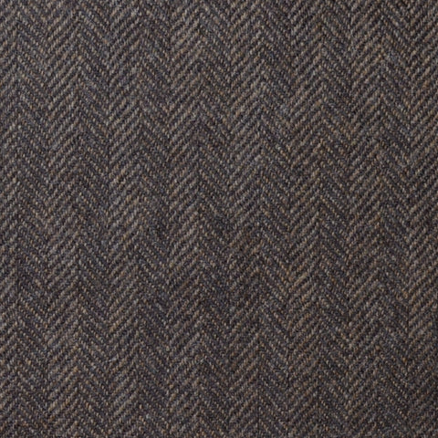 Medium Brown Herringbone Lambswool & Cashmere Jacketing