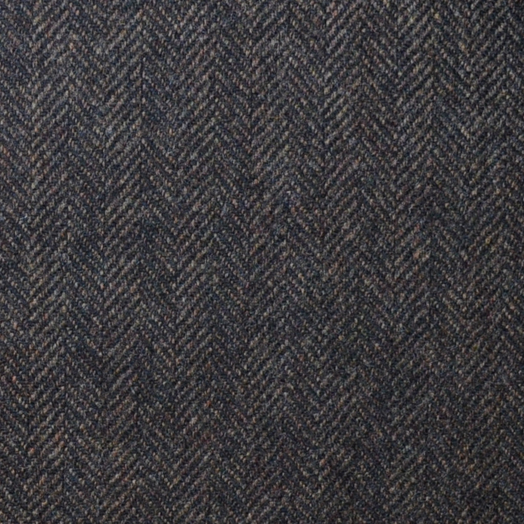 Dark Brown Herringbone Lambswool & Cashmere Jacketing