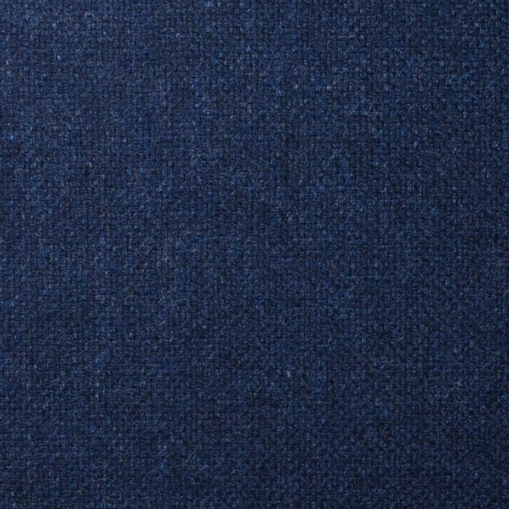 Navy Blue and Black Barley Corn Lambswool & Cashmere Jacketing