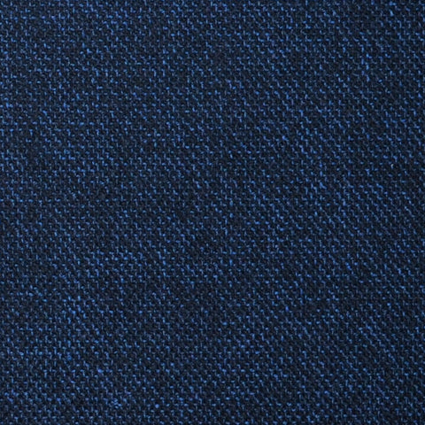 Navy Blue and Black Pick Weave Lambswool & Cashmere Jacketing