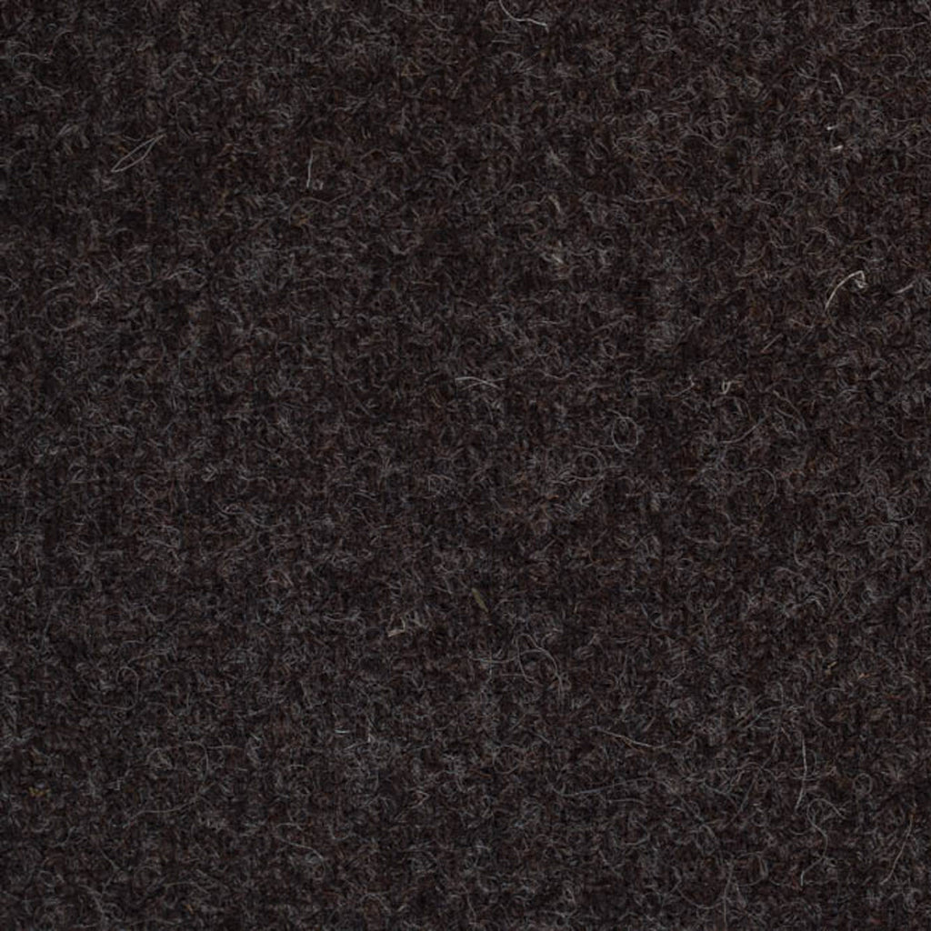 Dark Brown Plain Weave Natural Undyed Tweed