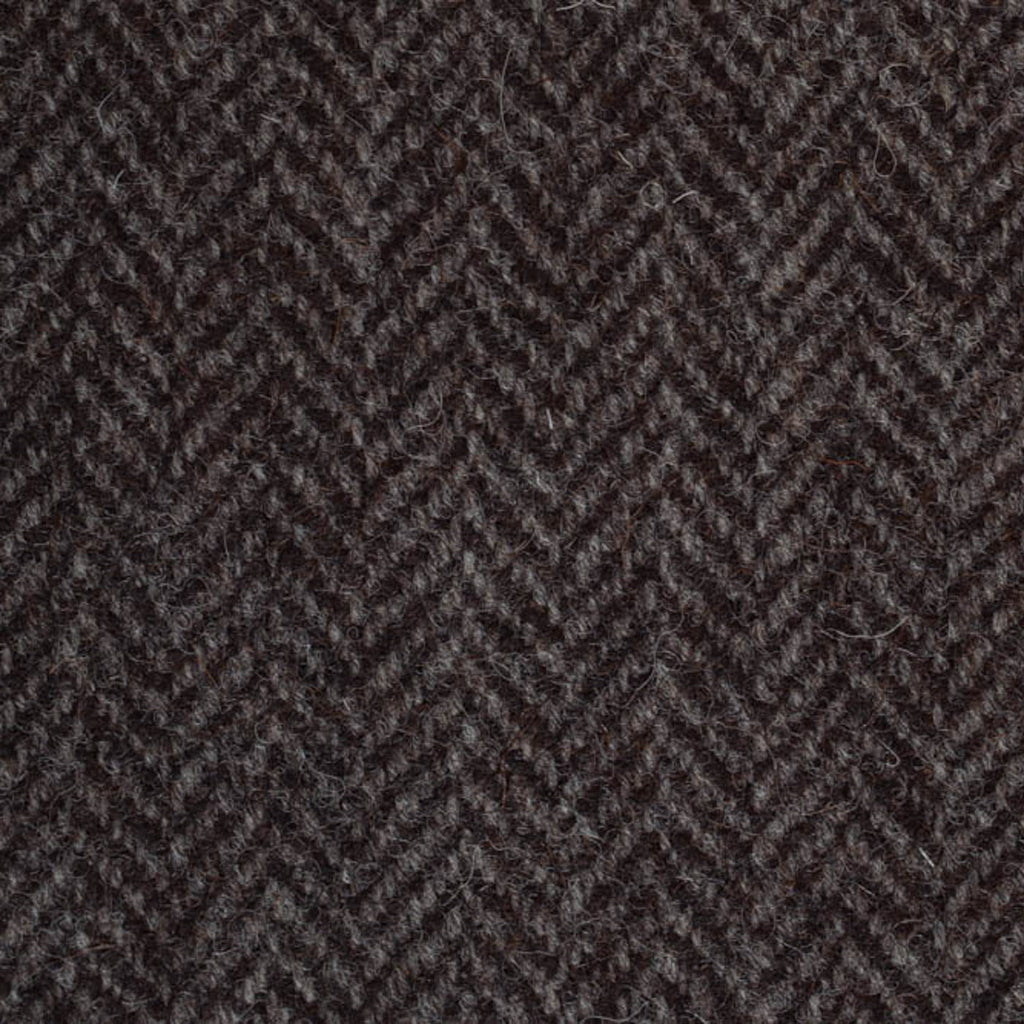 Grey/Brown Herringbone Natural Undyed Tweed