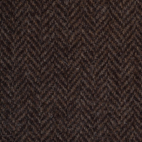 Dark Brown Herringbone Natural Undyed Tweed
