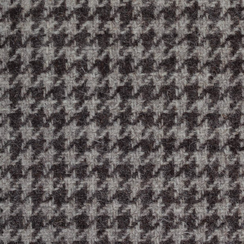 Grey/Brown Dogtooth Natural Undyed Tweed