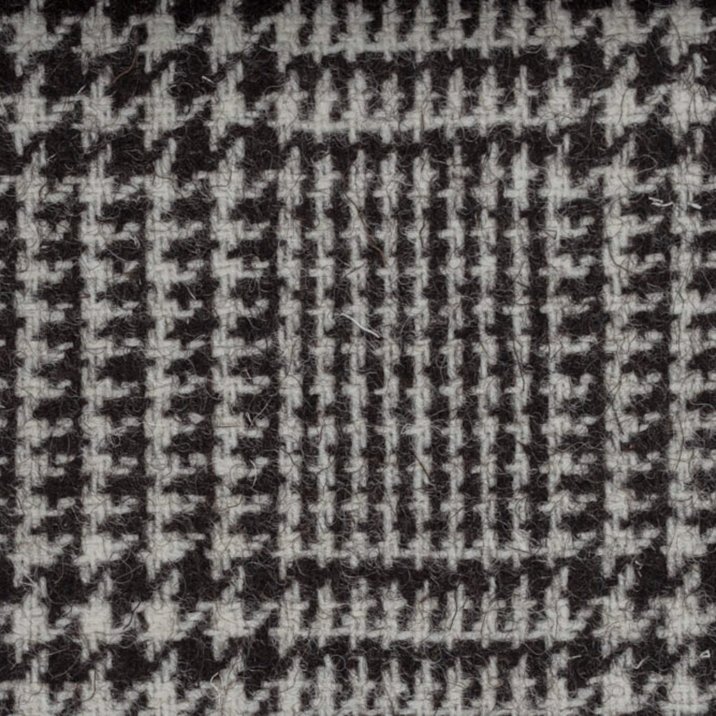 Grey/Brown Prince of Wales Check Natural Undyed Tweed