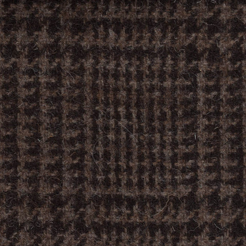 Dark Brown Prince of Wales Check Natural Undyed Tweed