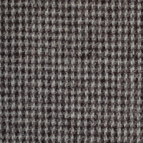 Grey/Brown Small Check Natural Undyed Tweed