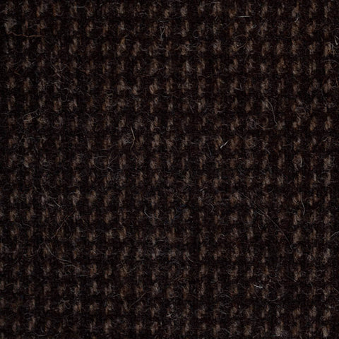 Dark Brown Small Check Natural Undyed Tweed