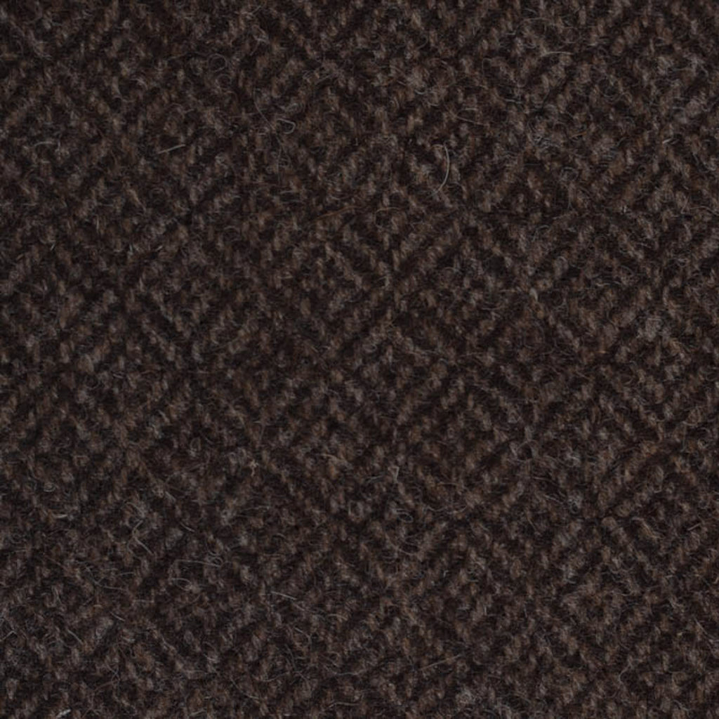 Dark Brown Diamond Weave Natural Undyed Tweed