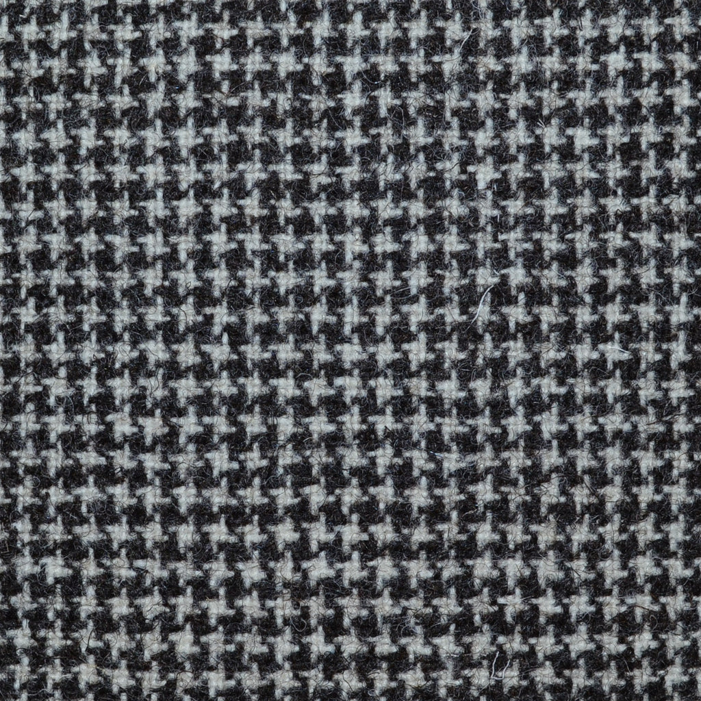 Beige & Brown Small Dogtooth Natural Undyed Tweed