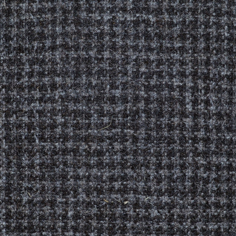 Grey & Brown Small Dogtooth Natural Undyed Tweed