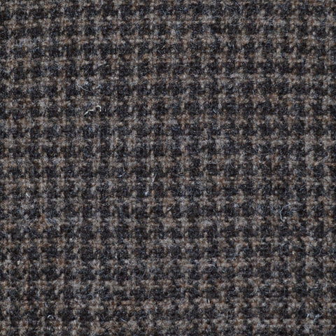 Dark Brown Small Dogtooth Natural Undyed Tweed