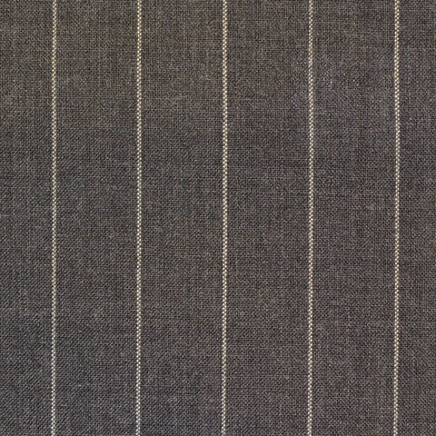 Grey Chalkstripe Super 120's Suiting