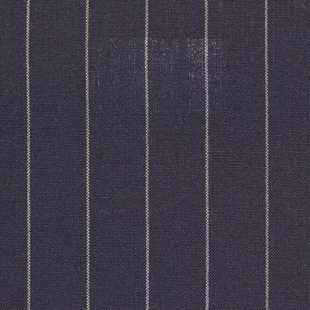 Navy Blue Chalkstripe Super 120's Suiting