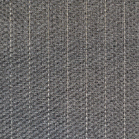 Light Grey Narrow Chalkstripe Super 120's Suiting