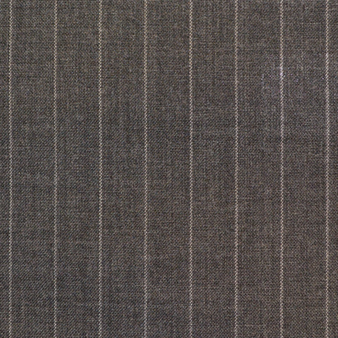 Grey Narrow Chalkstripe Super 120's Suiting