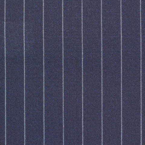 Dark Navy Narrow Chalkstripe Super 120's Suiting