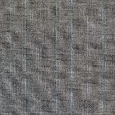 Grey with Blue Narrow Chalkstripe Super 120's Suiting