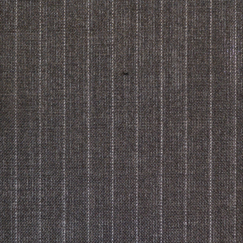 Grey Pinstripe High Twist Super 120's Suiting