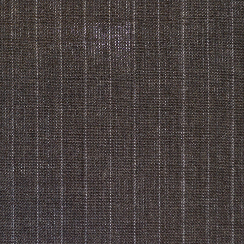 Dark Grey Pinstripe High Twist Super 120's Suiting