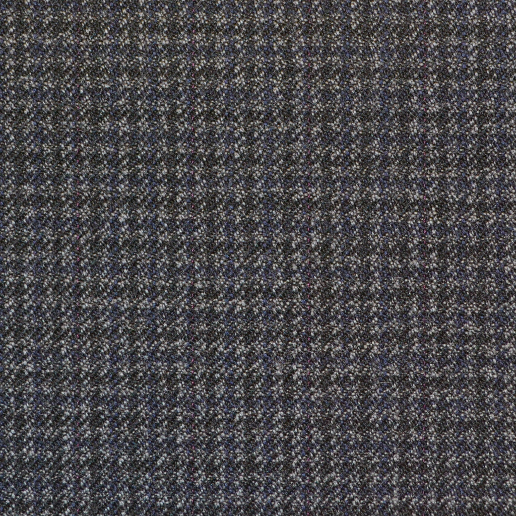 Blue & Grey Dogtooth Check Twist Suiting