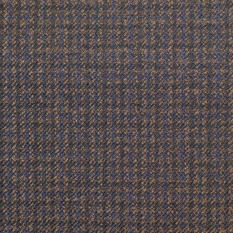 Blue & Navy Dogtooth Check Twist Suiting