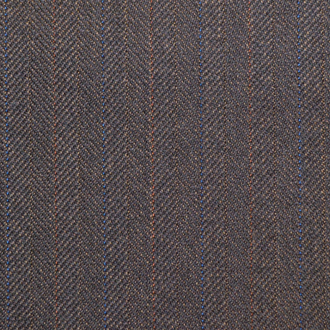 Brown Subtle Herringbone Twist Suiting