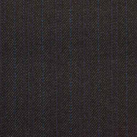 Blue with Blue Subtle Herringbone Stripe Twist Suiting