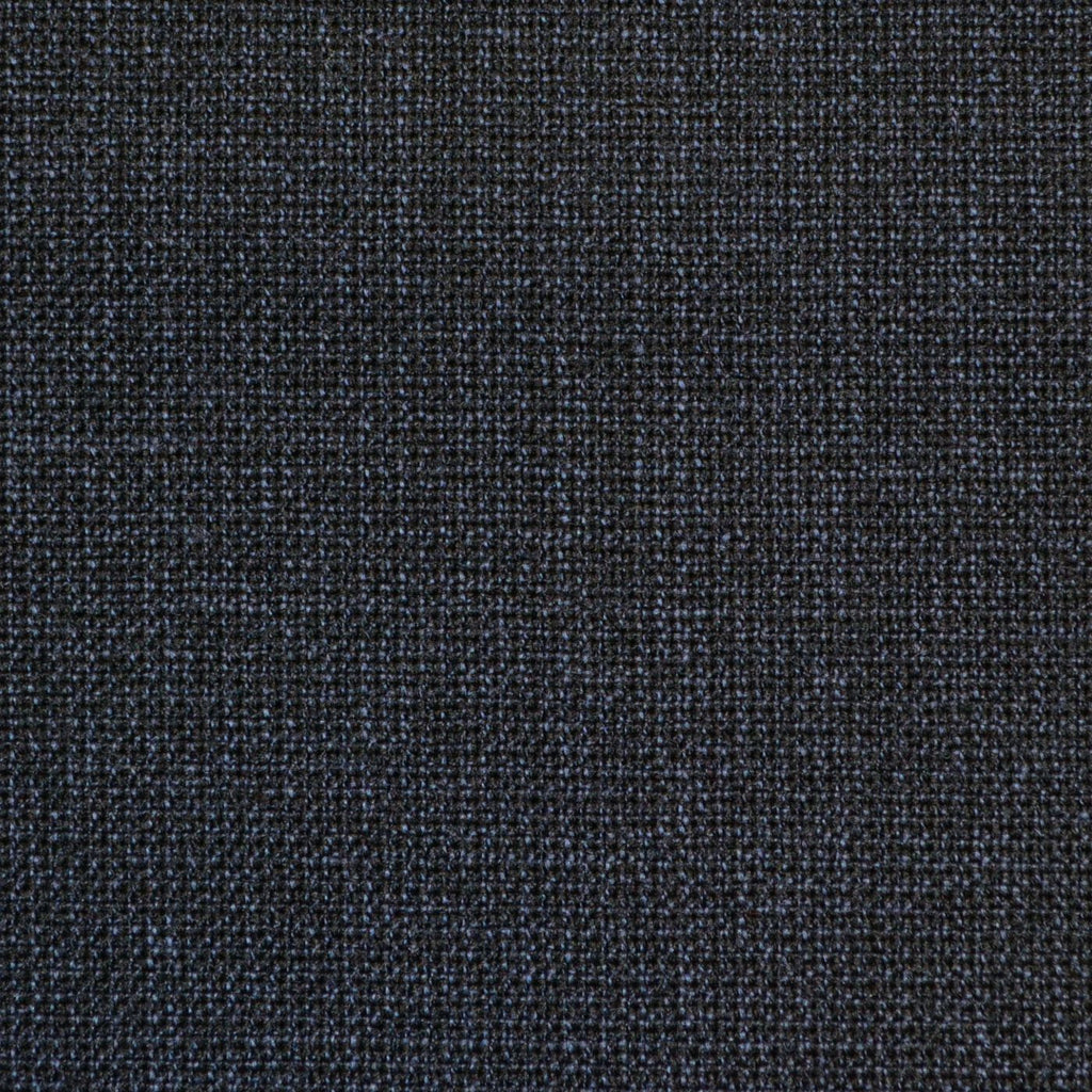 Navy Blue Mottled Weave Twist Suiting