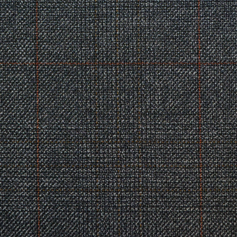 Dark Grey with Red Glen Check Twist Suiting