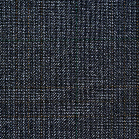 Blue with Blue Glen Check Twist Suiting