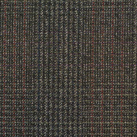 Grey/Brown with Red Prince of Wales Check Twist Suiting