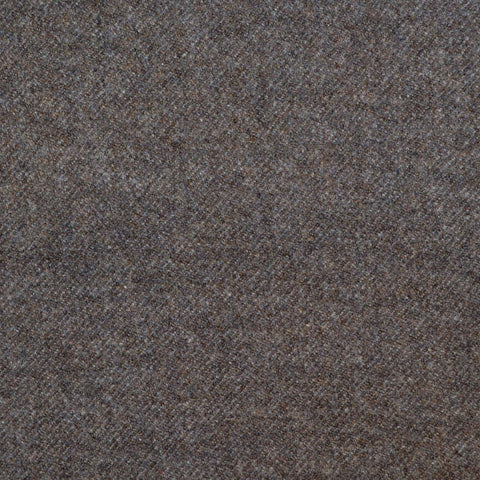 Medium Brown Super 140's Wool & Cashmere Flannel Suiting