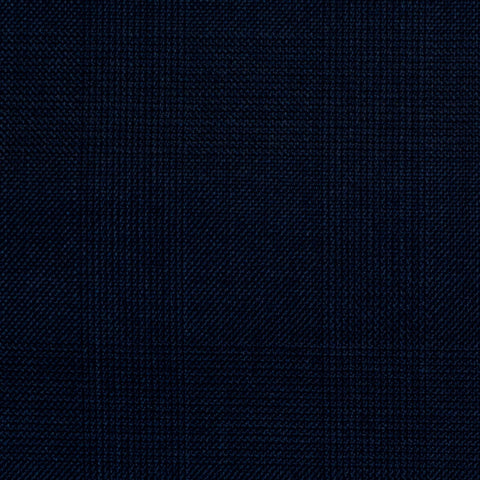 Navy Blue Prince of Wales Check Super 150's All Wool Suiting