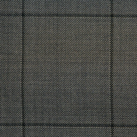 Grey with Grey Check Super 150's All Wool Suiting