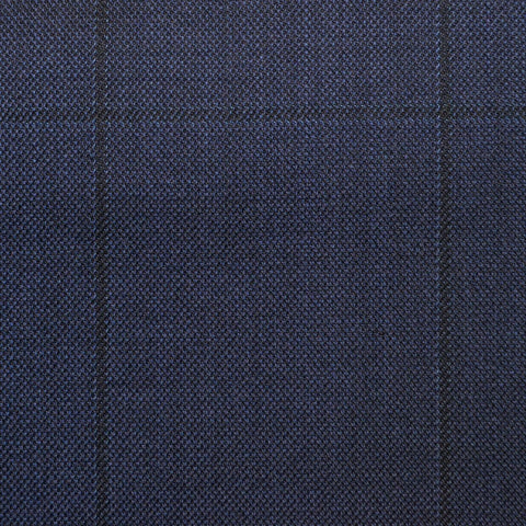 Navy Check Super 150's All Wool Suiting
