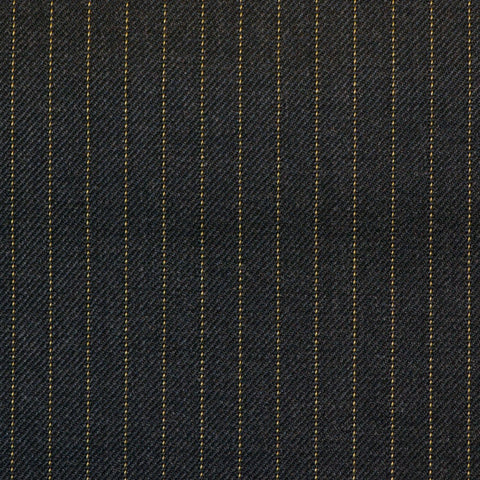 Grey Narrow Amber Pinstripe Check Super 150's All Wool Suiting