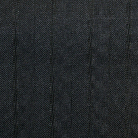Dark Navy Stripe Super 150's All Wool Suiting
