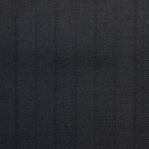 Navy Stripe Super 150's All Wool Suiting
