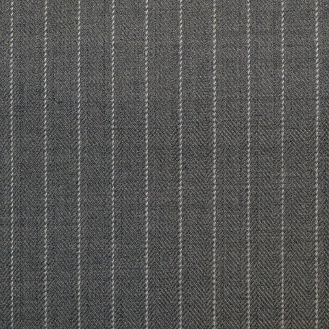 Grey Pinstripe Super 150's All Wool Suiting