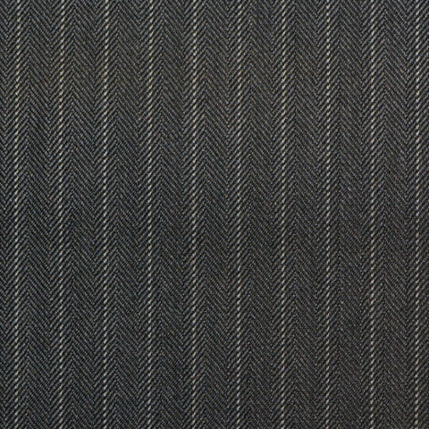 Medium Grey Pinstripe Super 150's All Wool Suiting