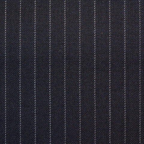 Dark Navy Pinstripe Super 150's All Wool Suiting