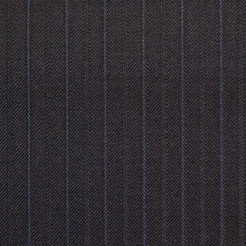 Dark Navy Fancy Stripe Super 150's All Wool Suiting