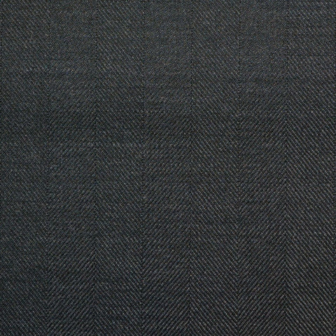 Dark Grey Wide Herringbone Super 150's All Wool Suiting