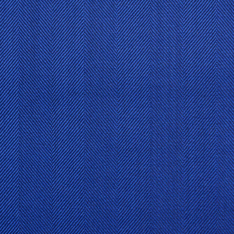 Bright Blue Wide Herringbone Super 150's All Wool Suiting